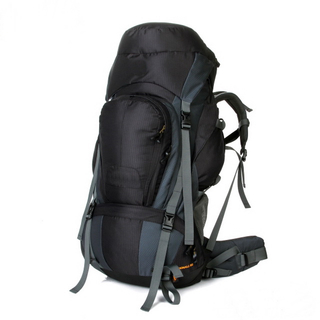 Durable Waterproof Travel Backpack Black Outdoor Camping Hiking Trekking Backpack
