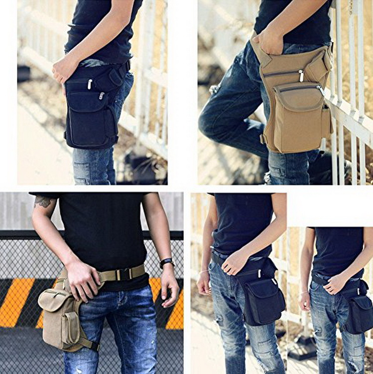 Leisure Fanny Bag - Multi Pockets Outdoor Hiking Travel Waist Bag