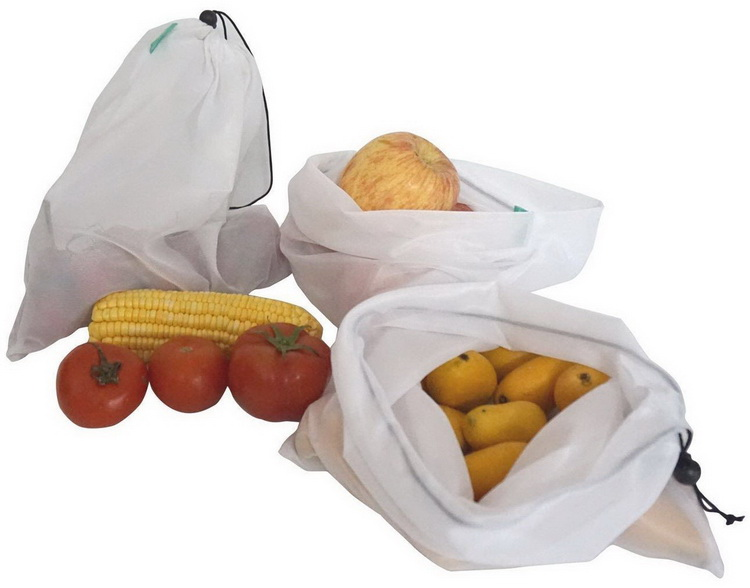 Eco Friendly Mesh Produce Drawstring Bags For Toys And Food With Factory Price
