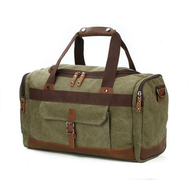 Personalized Canvas Gym Duffel/… KHAKI Personalized Canvas Duffle Bag