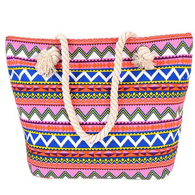 Oversized Summer Beach Totes With Full Printed For Women
