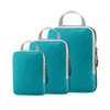 Nylon Travel Luggage Organizers Clothing Compression Packing Cubes 3 set S+M+L