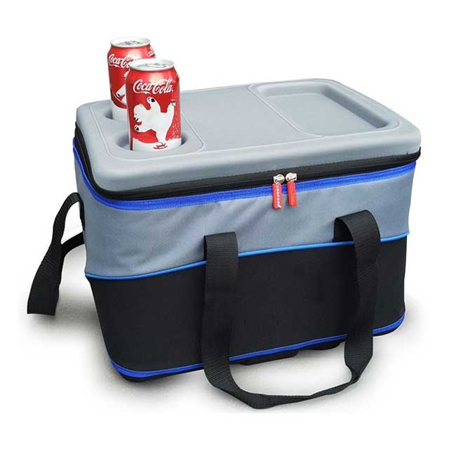 30l Foldable Picnic Cooler Bags For 48 Can With Leakproof Liner