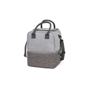 Reusable Insulated Waterproof Lunch Tote Bag With Two Main Spacious Compartments