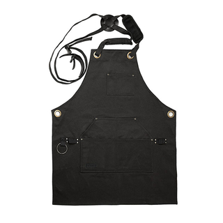 Waxed Canvas Woodworking Apron with Microfiber Towel Included and Smart Cross-Back Straps Design