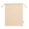 Organic Cotton Muslin Drawstring Bags For Market Shopping With Custom Service