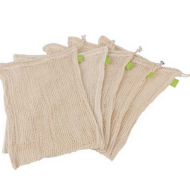 Reusable Cotton Muslin Produce Bags In Bulk With Eco-Friendly Material
